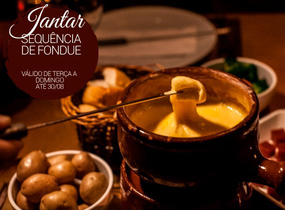 Jantar ter�a a domingo - Sequencia de Fondue na Pedra para 01 pessoa de R$79,00 por apenas R$49,90