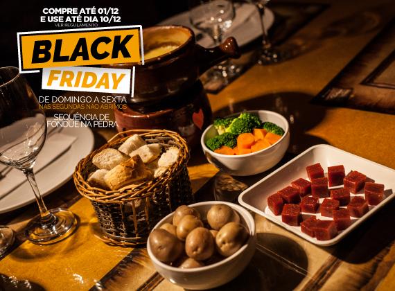 BLACK FRIDAY Jantar de Domingo a sexta - Sequencia de Fondue na Pedra para 01 pessoa de R$79,00 por apenas R$39,90
